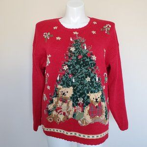 Tiara Plus Size 16 Red Christmas Tree Sweater 16